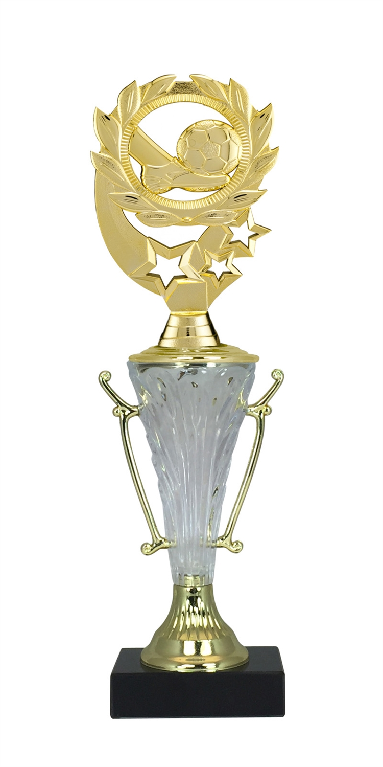 Soccer Trophy Cup on Marble Base in (2 - Sizes)