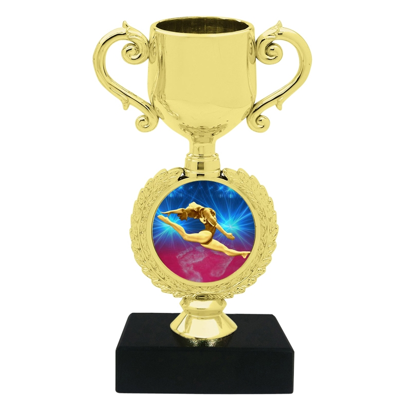 Small Female Gymnastics Trophy Cup