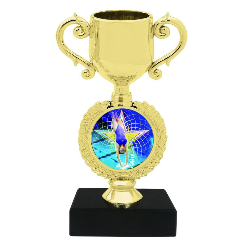 Female Diving Trophy Cup