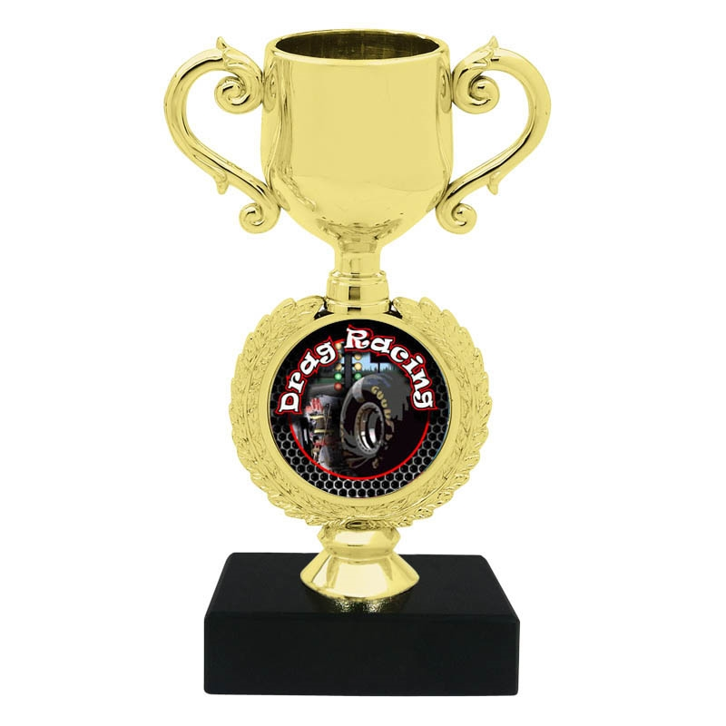 Drag Racing Trophy Cup