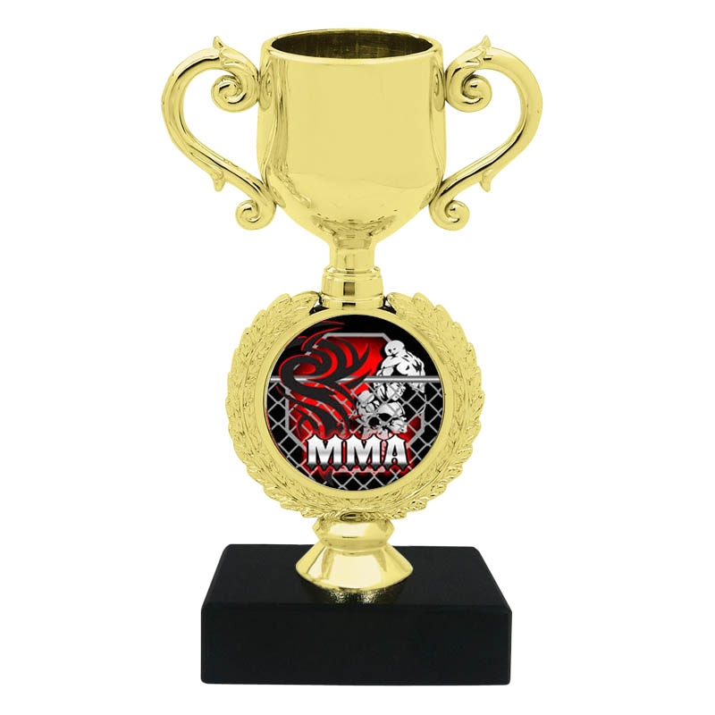 MMA Mixed Martial Arts Trophy Cup