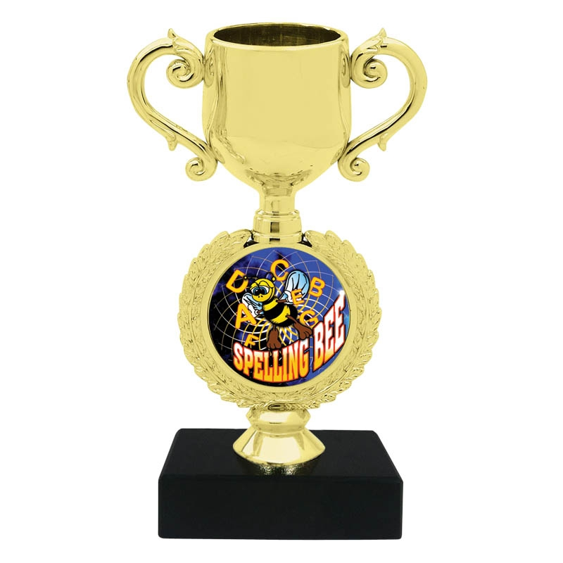 Express Medals Custom Flame Hockey Champ Chain Trophy with 2 Lines of Personalized Text on a Large Rigid Plastic Championship Award Medal and 34 Inch Long Gold Color Neck Chain EMFCL800