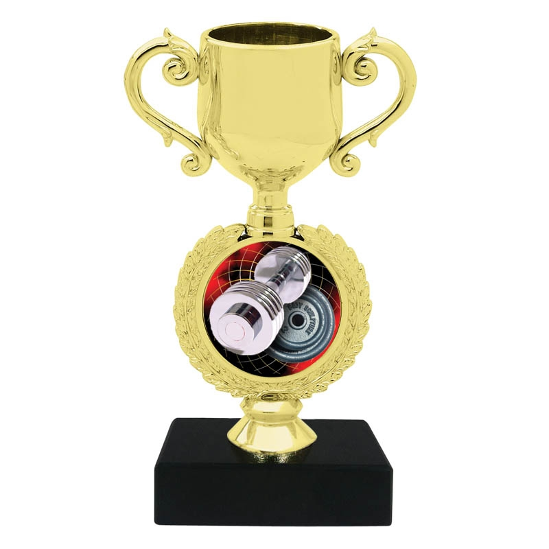Weightlifter Trophy Cup