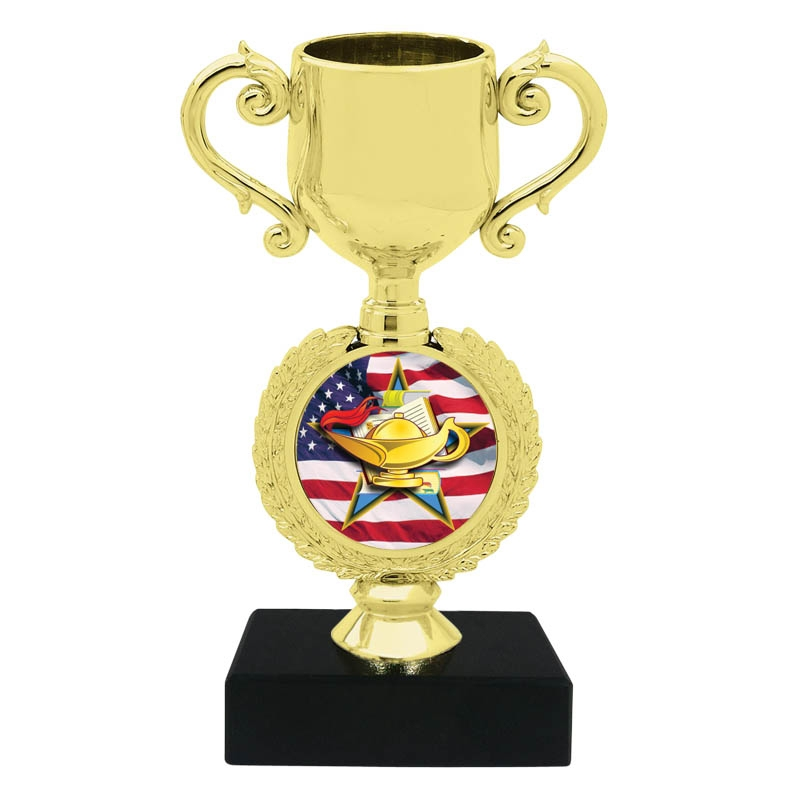 Book & Lamp Trophy Cup