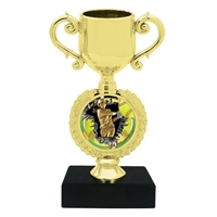 Burst Female Softball Trophy Cup