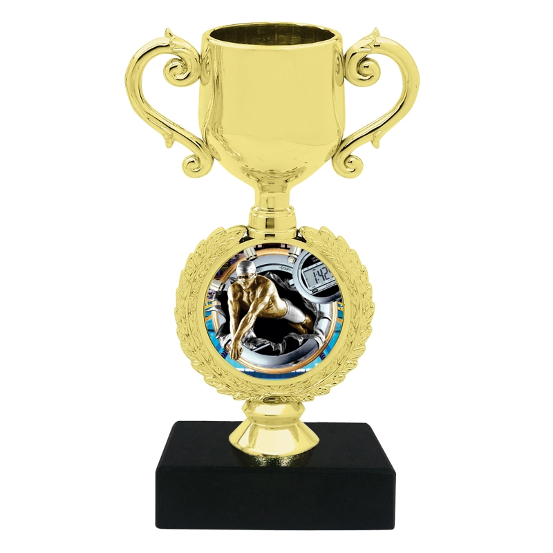 Burst Male Swimming Trophy Cup