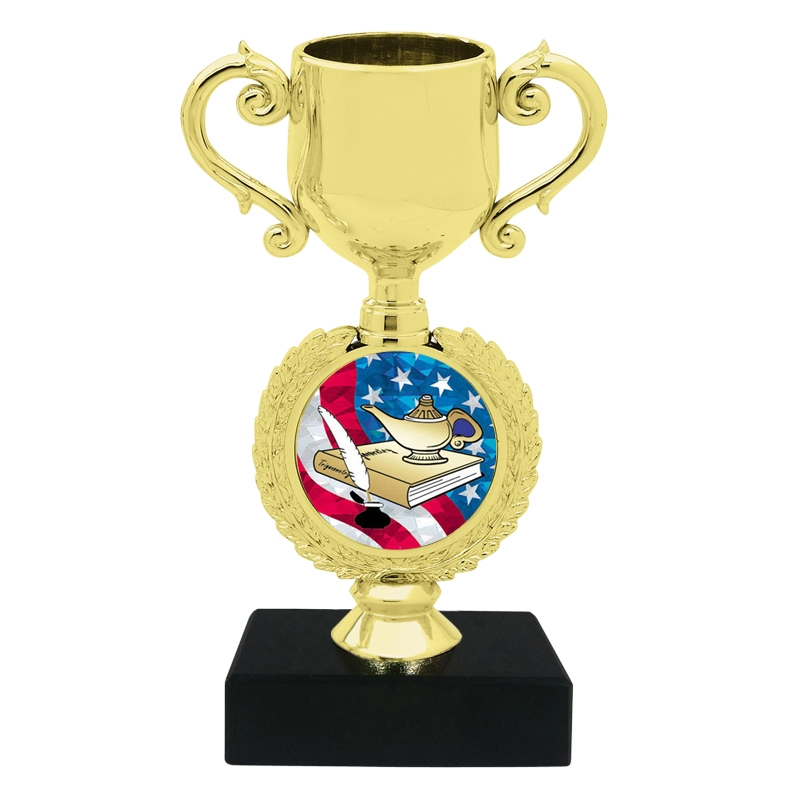 USA Lamp of Knowledge Trophy Cup