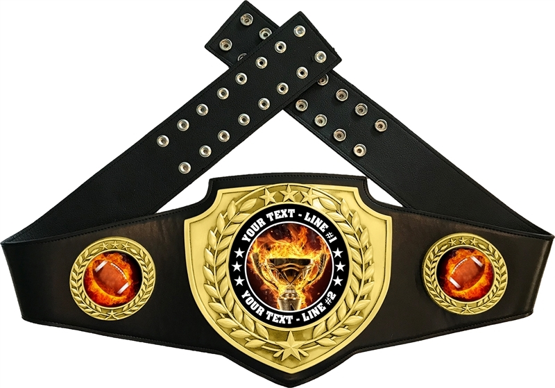 Football Flame Championship Award Belt