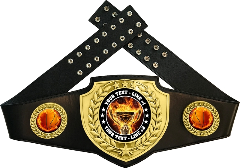Basketball Flame Championship Award Belt