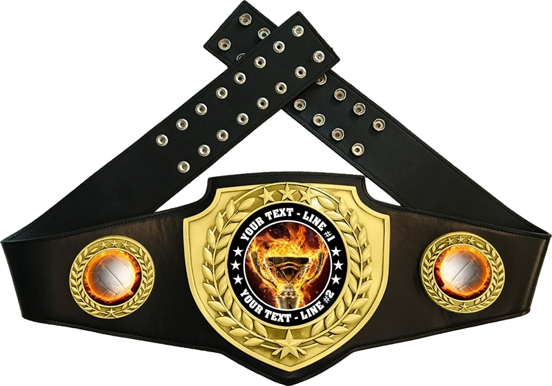 Volleyball Flame Championship Award Belt