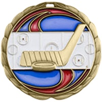 "2-1/2"" Epoxy Resin Hockey Medal CEM-318"