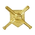 Chennile - Crossed Bats Baseball Pin CL-16