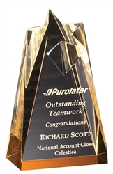 "6"" Gold Star Acrylic Award Trophy"