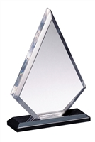 "7"" Triangle Acrylic award on Black Base"
