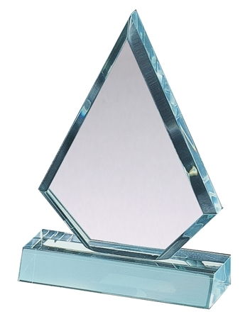 "6-3/4"" Color Triangle Acrylic Award (2-Colors)"