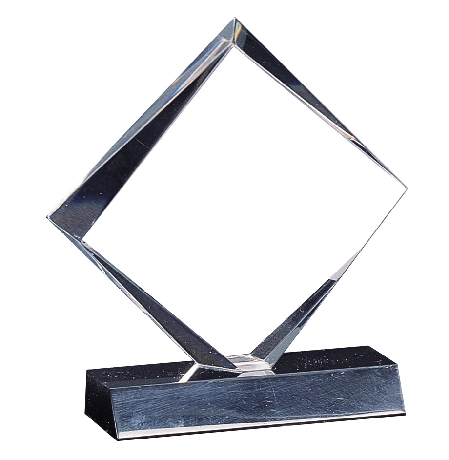 "7"" Diamond Acrylic award on Black Base"