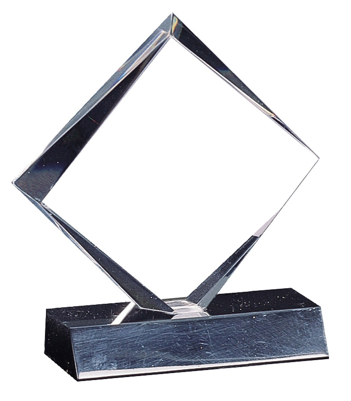 "5-3/4"" Diamond Acrylic award on Black Base"