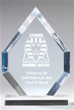 "6"" x 8"" Blue Jade or Clear Arrowhead Acrylic Awards"