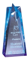 "8"" Blue Star Acrylic Award Trophy"