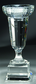"11"" Optical Venice Crystal Bowl Award Trophy"
