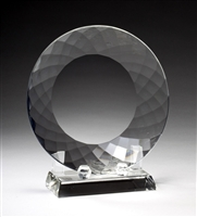 "8"" Crystal Plate Award Trophy"