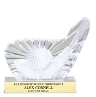 Sculptured Glass Golf Club Award