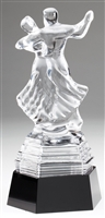 Crystal Dance Couple Award Trophy
