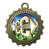 "3"" Cross Country Medal"
