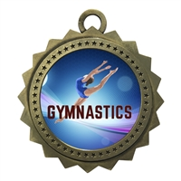 "3"" Female Gymnastics Medal"