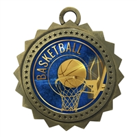 "3"" Basketball Medal"