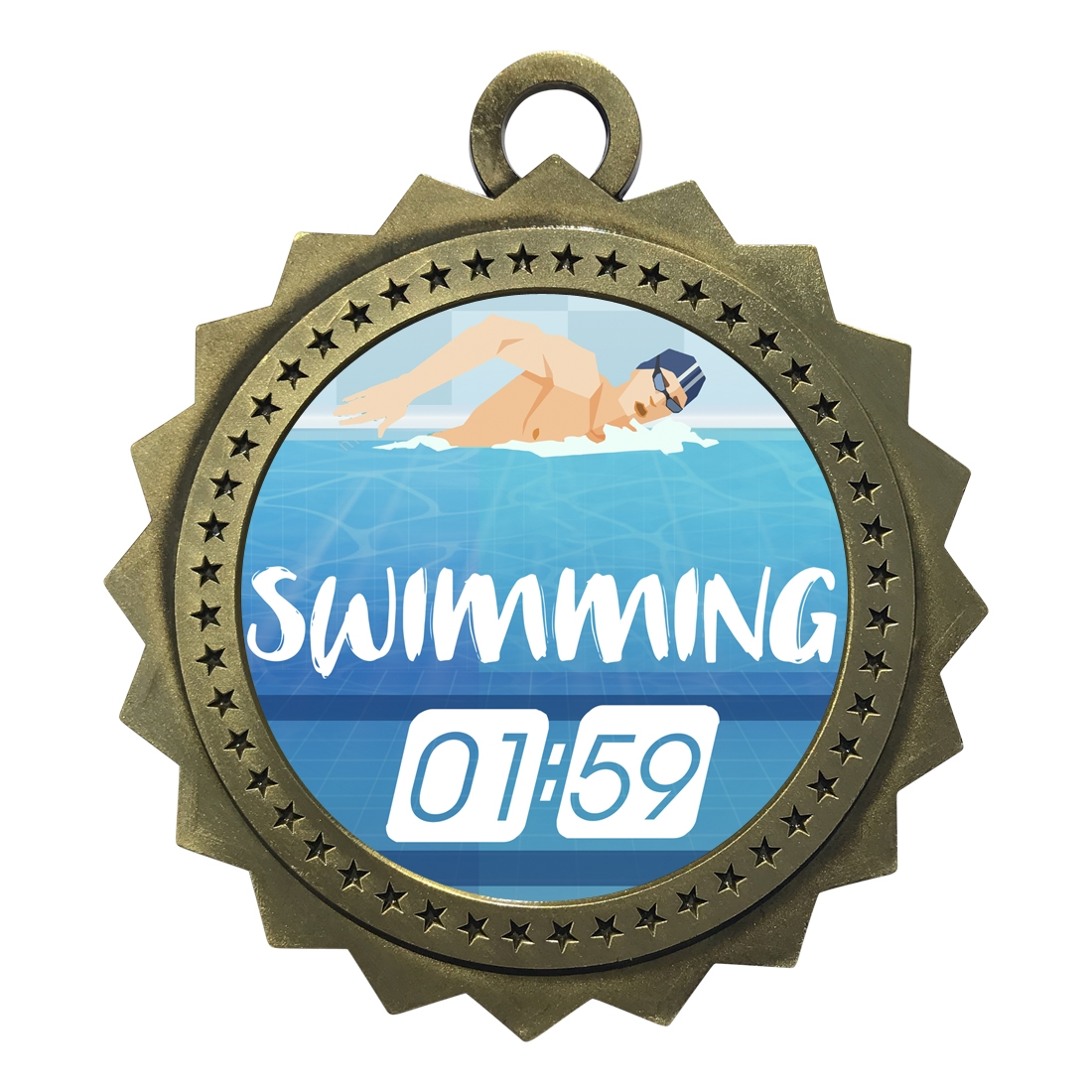 "3"" Swimming Medal"