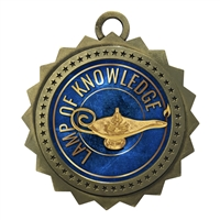 "3"" Lamp of Knowledge Medal"