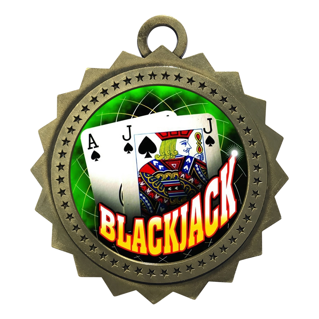 "3"" Blackjack Medal"