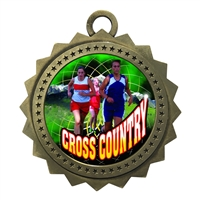 "3"" Female Cross Country Medal"