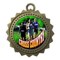 "3"" Male Cross Country Medal"