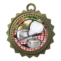 "3"" Chef Cooking Medal"