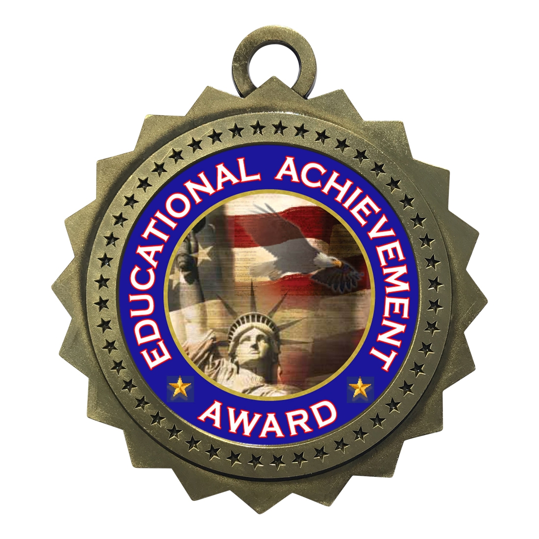 "3"" Educational Achievement Award Medal"