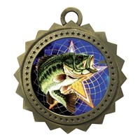 "3"" Fishing Medal"
