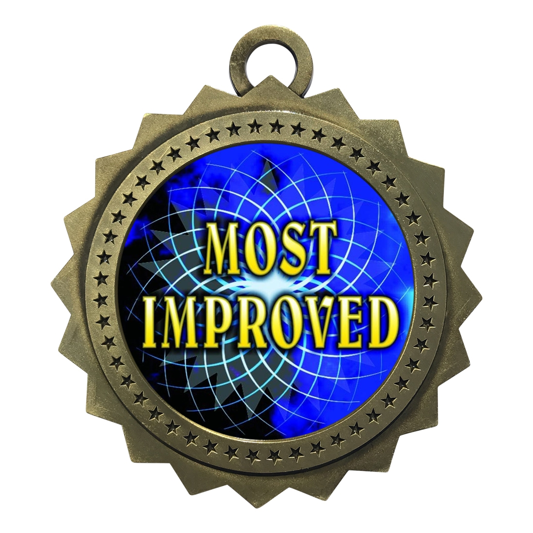 "3"" Most Improved Medal"