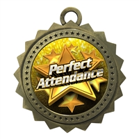 "3"" Perfect Attendance Medal"