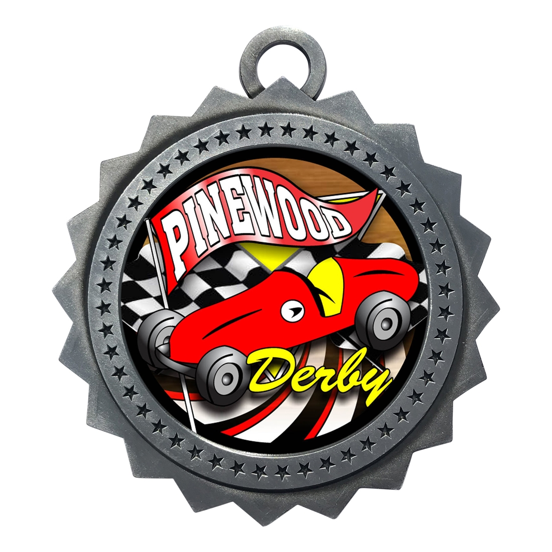 "3"" Pinewood Derby Medal"