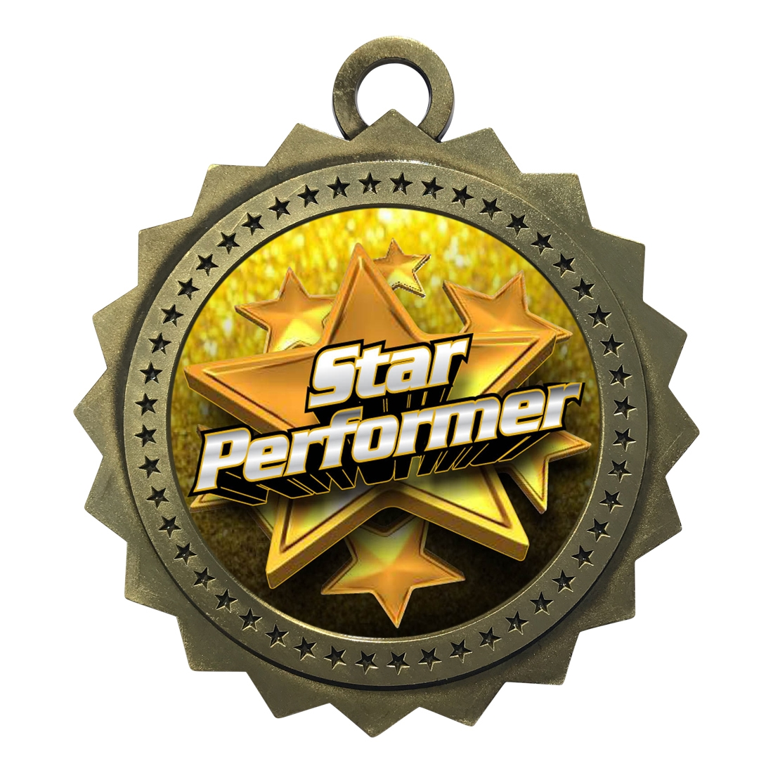 "3"" Star Performer Medal"