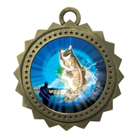"3"" Bass Fishing Medal"
