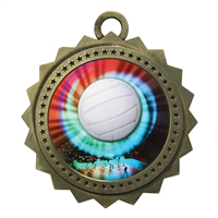 "3"" Volleyball Medal"