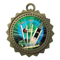 "3"" Cricket Medal"