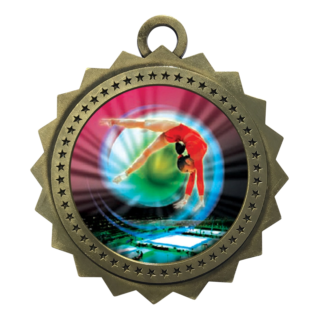 "3"" Female Gymnasitcs Medal"