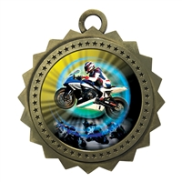 "3"" Motorcycle Racing Medal"