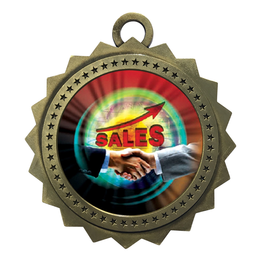 "3"" Top Sales Medal"