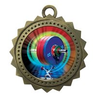 "3"" Weight Lifting Medal"