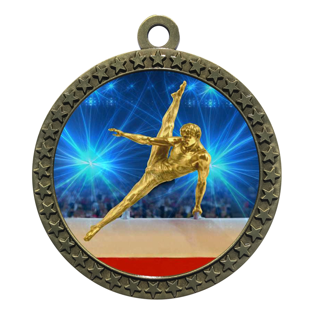 "2-1/2"" Male Gymnastics Medal"